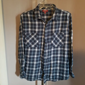 Arizona Jean Co Flannel Shirt Size Large